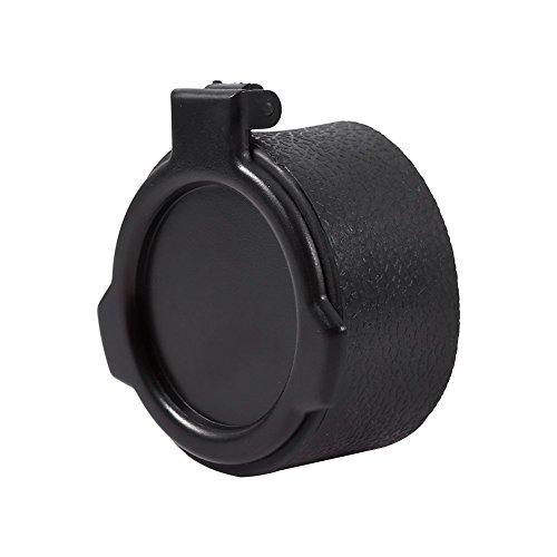 Yosoo Objektivdeckel für Jagdfernrohr staubdicht Objektivdeckel Gewehrklappt Optikfernrohr Sichtfernrohr Zubehör 5 Größen (Schwarz)