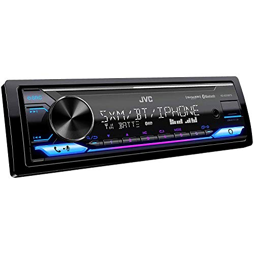 JVC KD-X370BTS Digital Media Receiver featuring Bluetooth, USB, SiriusXM, Alexa Connectivity with Magnet Phone Holder
