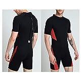 HUOFEIKE Tauchbekleidung für Herren - Neopren-Badebekleidung für Herren, Back Zipper Surfwear,...