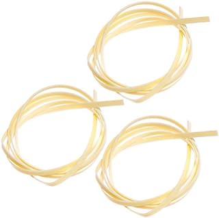 3pcs Cream Vertical Stripes Celluloid 5 Feet Guitar Binding Purfling Strip 1650 x 6 x 1.5 mm