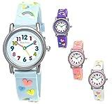 Pure Time® Einhorn Unicorn Kinder-Uhr Mädchen-Uhr Kinder Armband-Uhr Pferd Pony Tier Silikon...