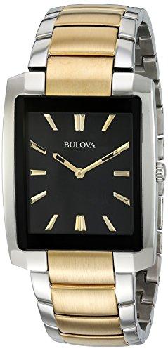 Relógio masculino Bulova 98A149 com mostrador analógico de quartzo e dois tons
