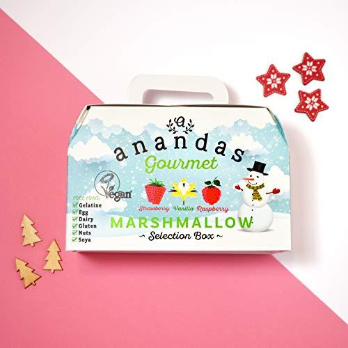 Anandas Vegane & Vegetarische Marshmallows Geschenkbox 3 x 80g (Erdbeere Vanille Himbeerem)