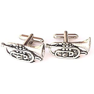 Customer reviews Emblems-Gifts Cornet (Musical Instrument) Hand Made Pewter Cufflinks (N268) Gift Boxed:Amedama