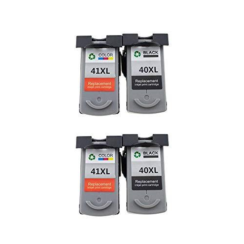 ZIJ PG-40 CL-41 Cartucho de tinta compatible PG40 para impresora Canon Pixma MP140, MP150, MP160, MP180, MP190, MP210, MP220, MP450, MP470 (Color: 2set)