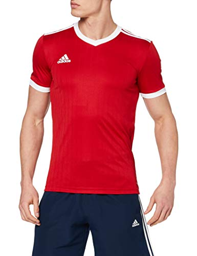 adidas TABELA 18 JSY T-Shirt, Hombre, Power Red/White, M