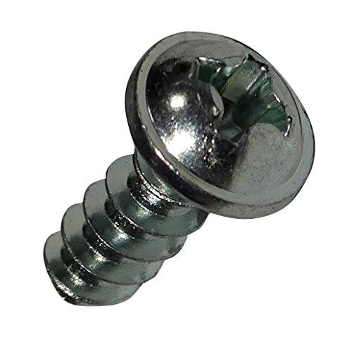 Aerzetix: 50 schroeven met convex kop met band M3.5x10mm staal verzinkt Phillips PH2 C19455