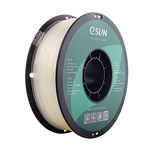 eSUN 1.75mm Clear PLA 3D Printer Filament 1KG Spool (2.2lbs), Glass PLA