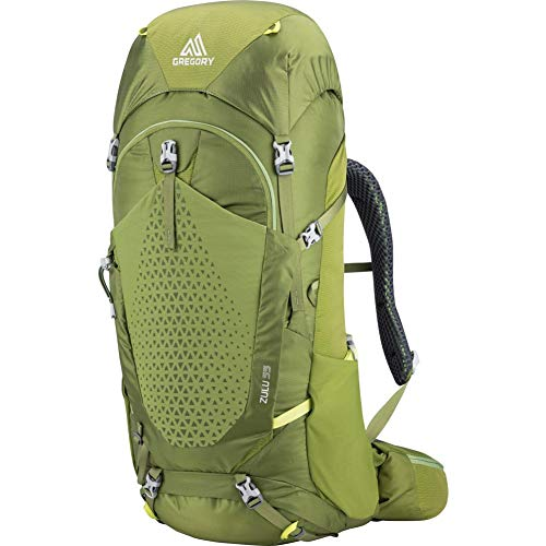 Gregory Mountain Products Zulu 55 Liter Men's Overnight Hiking Backpack, Mantis Green, Small/Medium