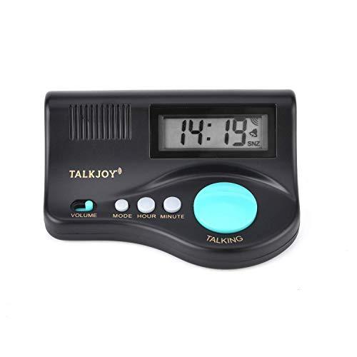 Sveglia parlante digitale, sveglia da tavolo, con indicazione dell'ora e funzione sveglia (riproduzione vocale regolabile), versione spagnola