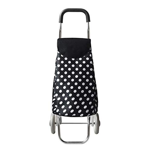 DAQINGSANyuan Folding Shopping Cart,Best Comfort Shopping Trolley Bag, Utility Grocery Cart with Waterproof Canvas Bag Tote Large Capacity35L