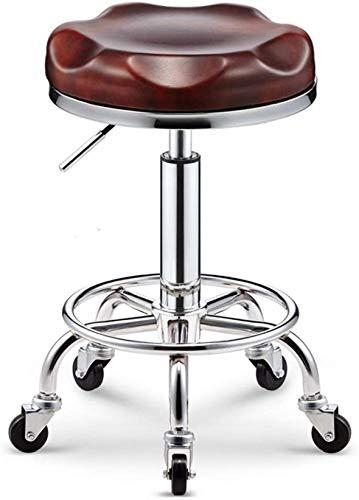 QTQZDD Decoratieve bank ijzer kunst make-up bank, creatieve PU Bar kruk kan tillen hoge bank roterende computer stoel kapsalon manicure bank lift hoogte 44 60 cm 3 3