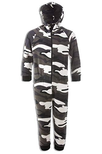 CAMILLE Strampler-Pyjama-Sets für Kinder mit Mehreren Aufdrucken 9-11 Years Snow Camo