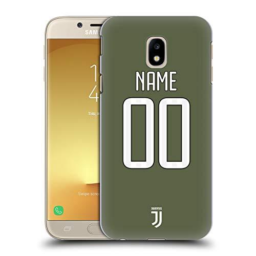 Head Case Designs Personalizzata Personale Juventus Football Club Terza Maglia Cover Dura per Parte Posteriore Compatibile con Samsung Galaxy J3 (2017)