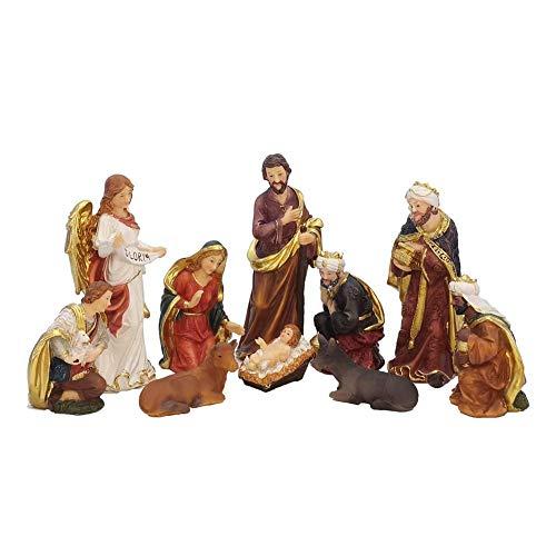 Accesorios Para El Hogar Estatua De Zayton Juego De Escena De La Natividad Figuras De Pesebre De Navidad Niño Jesús Pesebre Miniaturas Adorno Iglesia Católica Regalo Decoración Para El Hogar Escultur