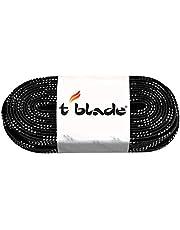 t-Blade veters voor schaatsen gewaxt zwart lengte 120'' (305 cm) vanaf schoenmaat 44