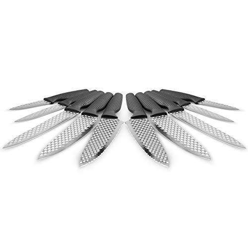 Mediashop Harry Blackstone Airblade Messer Set – scharfe und langlebige Küchenmesser – Kochmesser mit Antihaft-Klinge – Set aus 10 Messern für Jede Gelegenheit