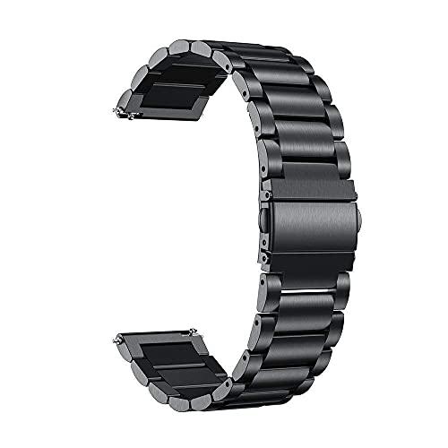 XKMY Correa de repuesto para reloj compatible con correa de metal (color negro 3)