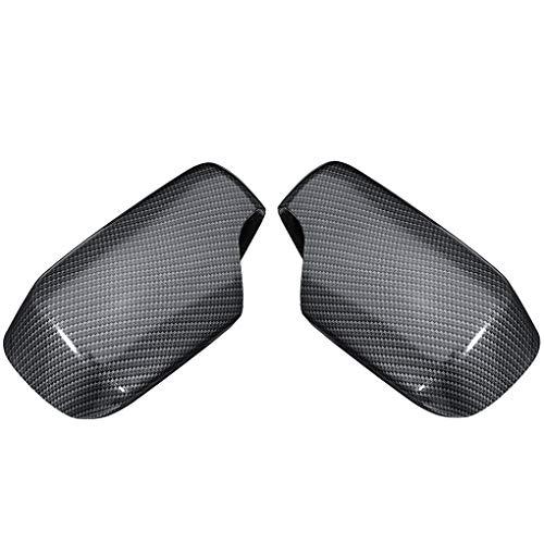 heacker 1 Paar Rückspiegelabdeckungen Carbon-Faser-Muster Caps Ersatz für E46 1998-2005 51168238376 51168238375