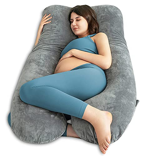 QUEEN ROSE Pregnancy Pillow U-Shaped, Maternity Pillow for sleeping, Body...