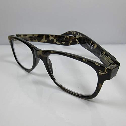 Kost leesbril voor heren +2,5 leeshulp grijs flexibele beugel kant-en-klaar bril kijkhulp etui