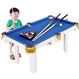 Daily Equipment KIMIBen-Toy Table Game Mesa de Billar portátil para niños de Billiard Junior Family Table Sport Game para niños niñas (Color: Azul Tamaño: 91x43x54cm)