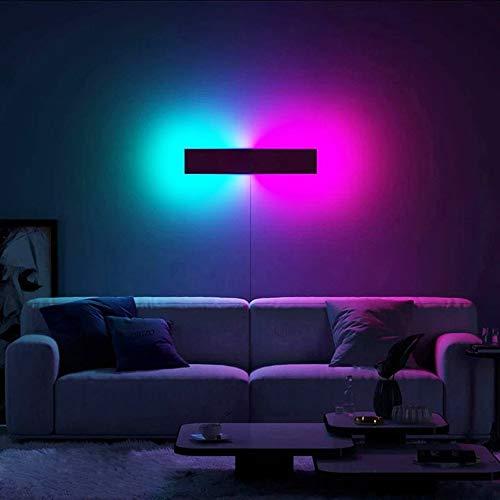 QJUZO Indoor Wandleuchte RGB LED Moderne Wandleuchten mit Fernbedienung Bunt Dimmbar Stimmungs-Beleuchtung für Wohnzimmer Schlafzimmer Flur Veranda Korridor Treppen