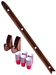 DAS SHOTTEN SKI: Warm up after the slopes with Das Shotten Ski! Includes 4 Person Ski and 50 Plastic Shot Cups plus 2 wall mounts for displaying when not in use. 4 PERSON SHOTS: Gather your friends and family for some cold weather partying! Great for...