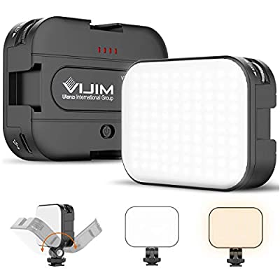 VIJIM VL-100C LED Video Light with Adjustable Stand, 2500K-6500K Bi-Color Ultra Bright Camera Lighting for Smartphone/Camera/Laptop Vlogging, Video Shooting, Photography from ULANZI Select