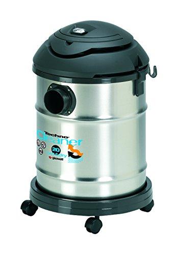 Gisowatt TechnoCleaner 20 Lt X Aspira-Tutto Wet & Dry Inox, 20 Litri, Acciaio, plastica