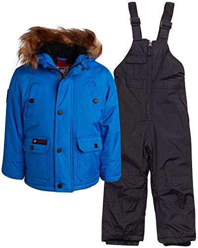 CANADA WEATHER GEAR Boys and Girls 2-Piece Snowsuit Set with Warm Puffer Jacket and Snowbib Pants Infant//Toddler