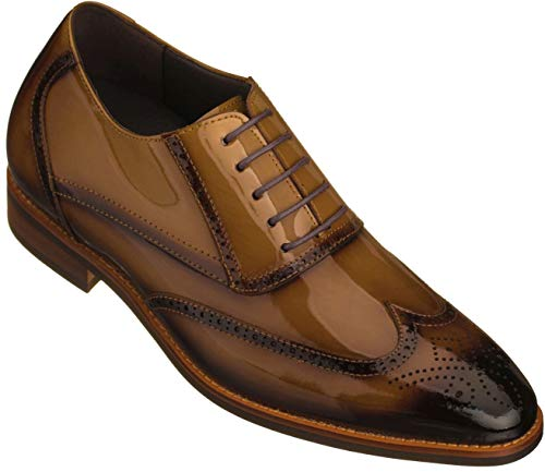 Brown Patent Leather Shoes for Men Size 10