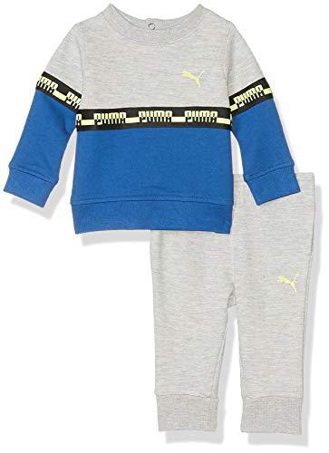 PUMA Baby Boys' Fleece Hoodie Set, Galaxy Blue, 0-3M