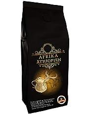 Koffiespecialiteit uit Afrika - Ethiopië - Koffie uit het land van herkomst van de koffie (hele boon, 500 gram) - Landelijke koffie - Topkoffie - Lage zuurgraad - Zacht en vers gebrand