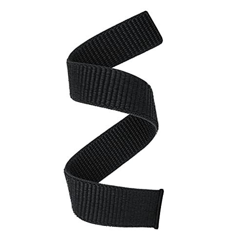 YOOSIDE 22mm Loop Nylon Armband für Fenix 6/Fenix 5, Ultraleichtes Schnell Trocknen Schleife Waschbar Uhrenarmband für Garmin Fenix 6 Pro/Sapphire,Fenix 5 Plus,Forerunner 935/945,Instinct (Schwarz)