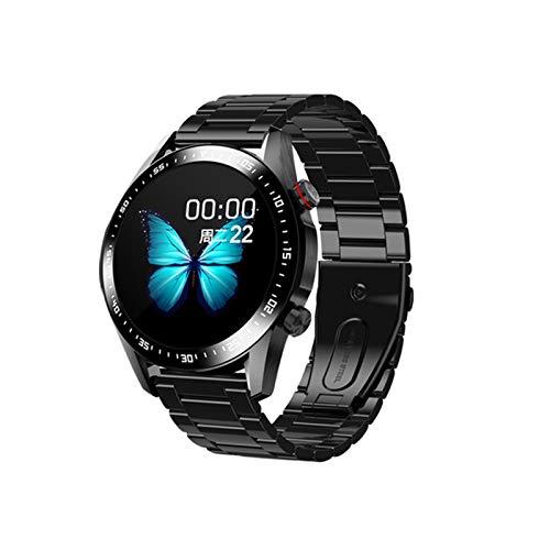 E1-2 reloj inteligente de los hombres Monitor de ritmo cardíaco RECORDATORIO BLUETOOTH BLUETOOTH Llamada a prueba de agua Pantalla táctil completa SmartWatch para Android iOS Deportes Fitness E12,H