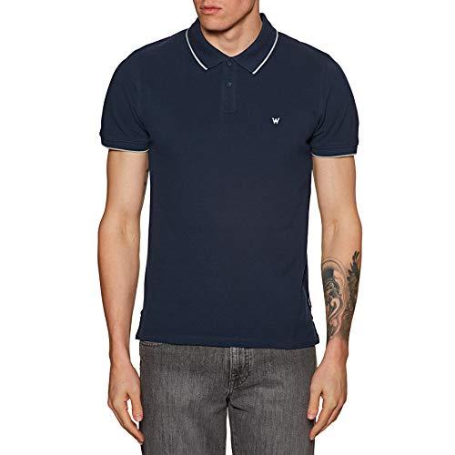 Wrangler Pique Polo Shirt, Blu (Navy 114), Large Uomo