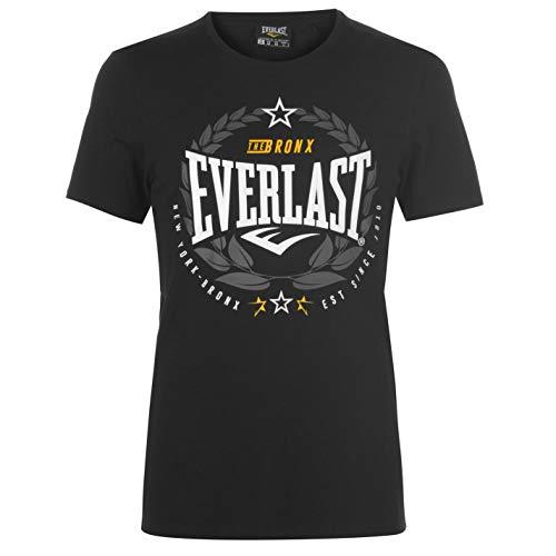 Everlast - Camiseta de cuello redondo para hombre, diseño de laurel Negro Negro ( L