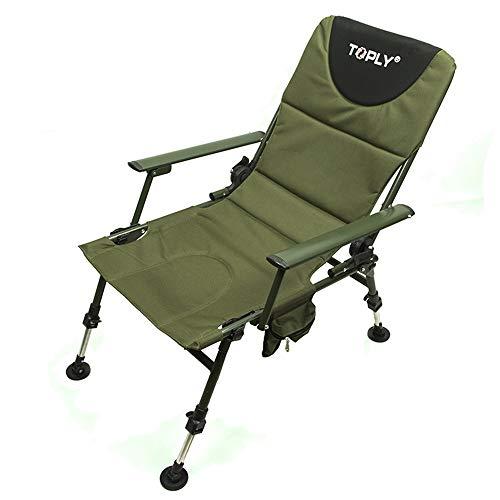 Honglimeiwujindian Tragbarer Campingstuhl Low Back Support Folding Sessel Maxi-Camping-Stuhl Tragbarer gepolsterter Stuhl mit Rückenlehne Kompaktes leichtes Zusammenklappen
