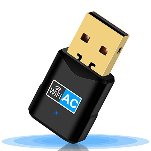 Aigital wifi無線LAN子機 WI-FI 受信機 無線lanアダプタAC600 デュアルバンド2.4GHz/5GHz 433Mbps + 150Mbps USB3.0 wi-fiトングル 子機 親機両用高速度安定802.11ac/n/a/g/bWi-Fi5ビームフォーミング ミニ ポータブル放熱穴デザインWindows/ Mac対応広範囲 ワイヤレス接続