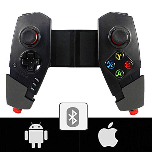 Zero starting point Juego Joysticks, Mobile Gaming Mando, Gamepad Bluetooth Controlador, Gamepad Movil Cable Digital, Joystick para iOS Android, Bluetooth Adaptador Inalámbrico,Negro