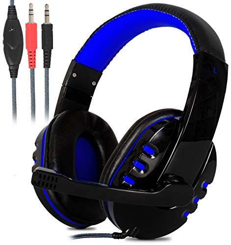 Headset Gamer Estéreo Super Bass Hd com Microfone para Pc Notebook Mac (Azul)