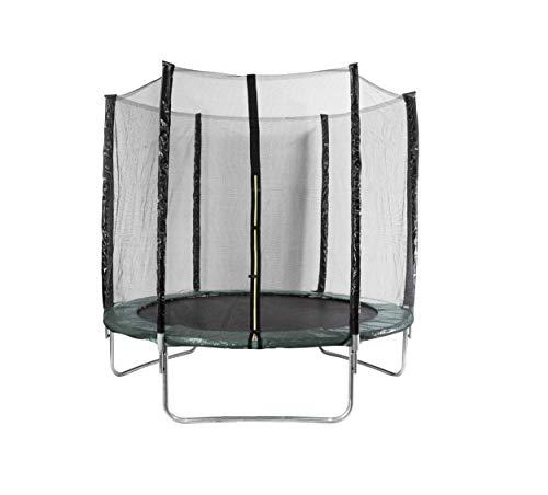 AMIGO Cama elástica de 305 cm – Cama elástica redonda para jardín con red de seguridad y barras acolchadas – cubierta de seguridad – Certificado TÜV (EN71) – Verde Oscuro