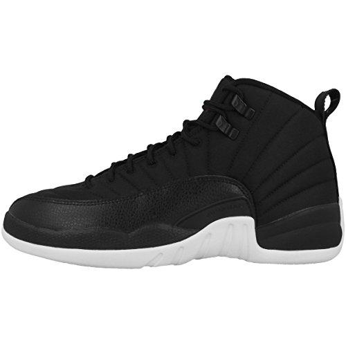 Nike Nike Jungen Air Jordan 12 Retro BG Basketballschuhe, Schwarz (Schwarz/Gym Rot-Weiß), 37.5 EU