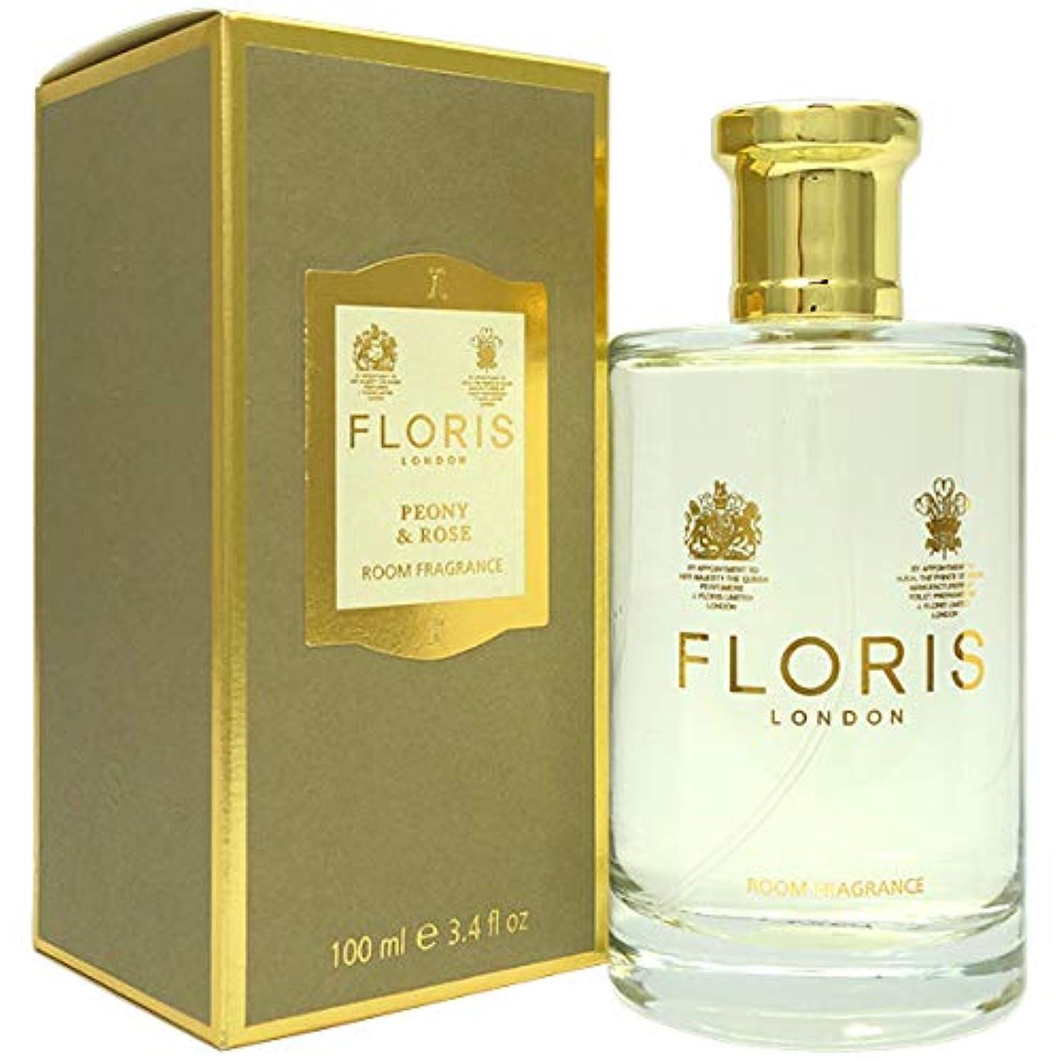 持っている包括的複製フローリス FLORIS ルームフレグランス ピオニー&ローズ 100ml [並行輸入品]