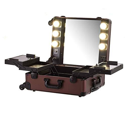 HHJY Professionelle Kosmetikkoffer, Aufbewahrung Trolley Schminkkoffer Kosmetik Trolley Mit Räder Koffer Makeup Train Case