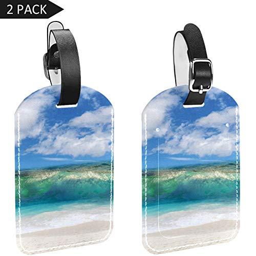 LORVIES Costa Rica Etiquetas de equipaje de playa, etiquetas de viaje, nombre y tarjeta titular para maletas de equipaje, 2 piezas