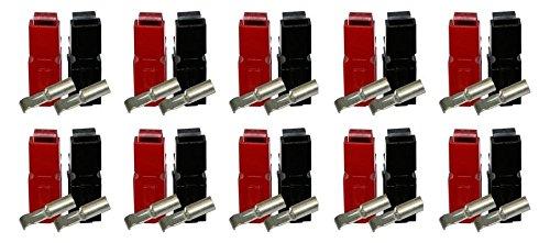 Anderson PowerPole® 20er - Set Mit 20 x 30A Kontakt, 10 x Gehäuse Rot, 10 x Gehäuse Schwarz (40 Teile)