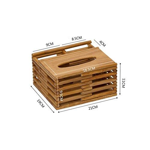 Hxdeli Multifunctionele tissue box, natuurlijke, tafel-tv-afstandsbediening, caddy organisator, minimalistisch, creatief persoonlijkheid E