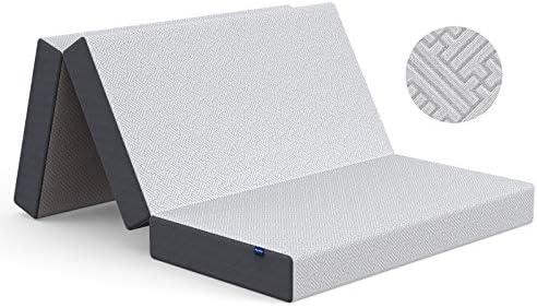 Inofia Folding Mattress Queen Memory Foam Tri fold Mattress Non Slip Washable Cover 5 Inch Portable product image
